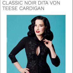 EUC- Dita Von Teese Black Noir Cardigan